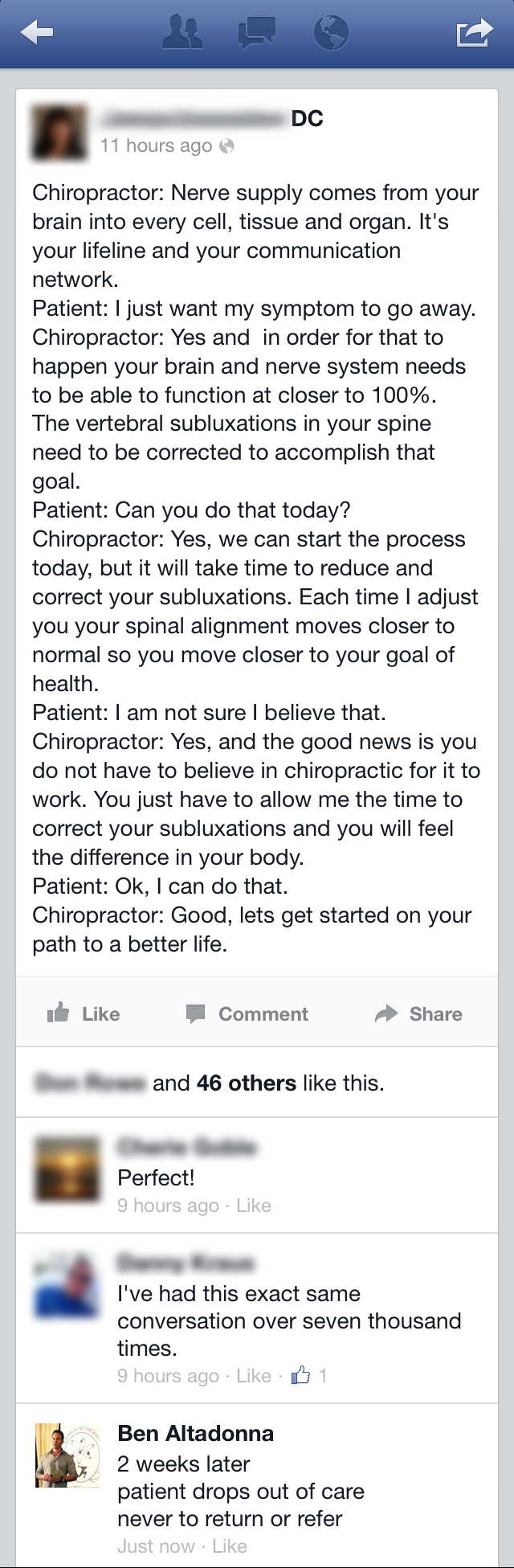 are your chiropractic patients dropping out?